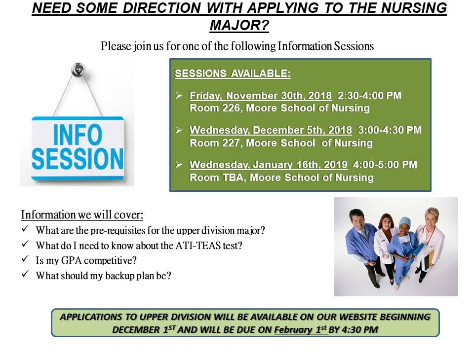Nursing Application Information