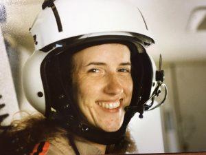 Audrey Snyder as a flight nurse