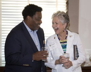UNCG Chancellor Franklin D. Gilliam, Jr. with Susan Safran