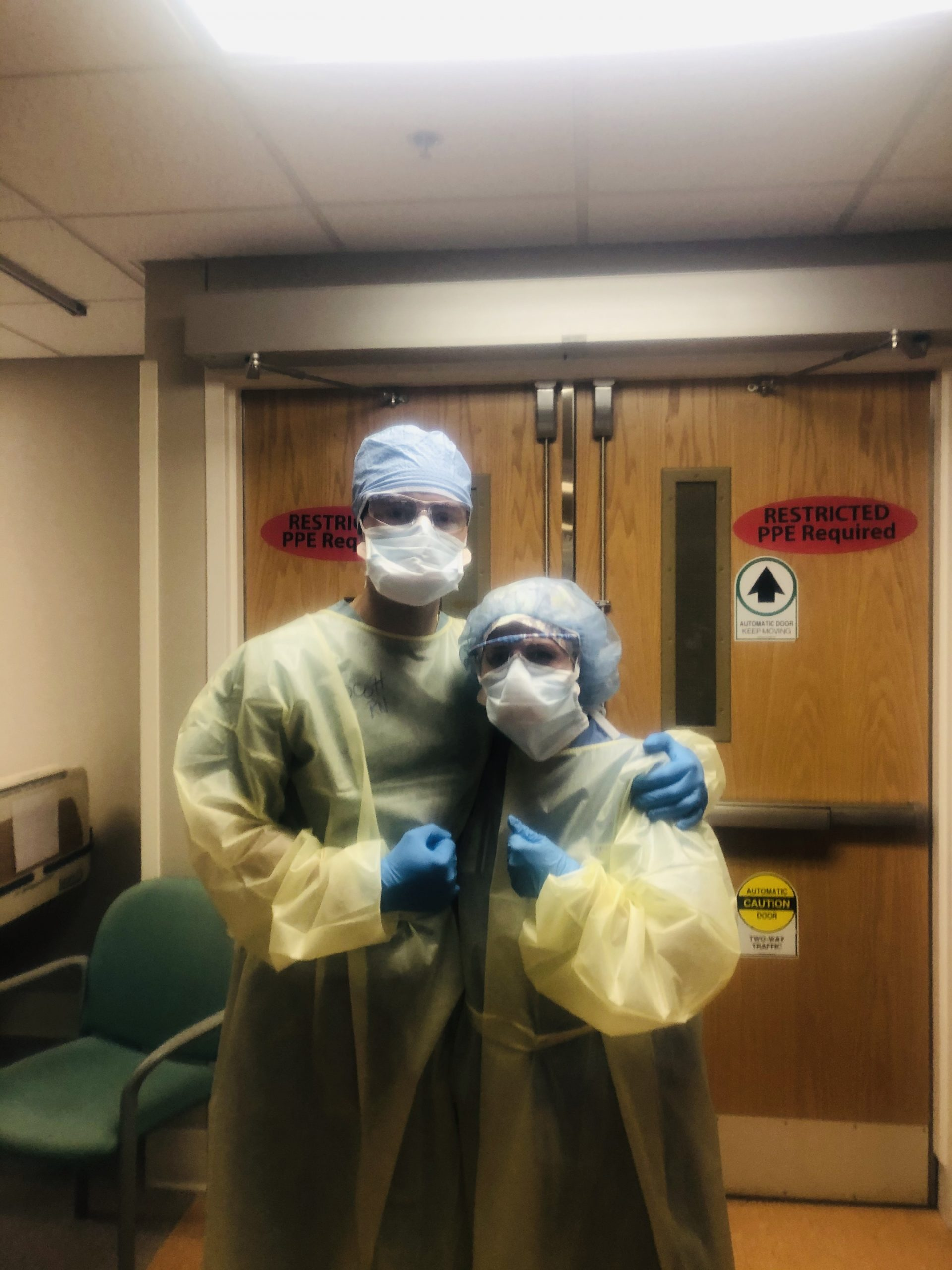 UNCG nurse anesthesia student Scott Dollar and Ali Cosgrove