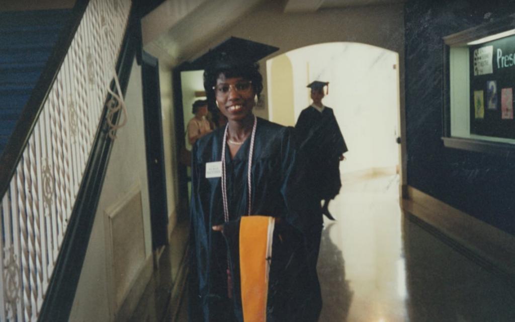 Ladsine Taylor at graduation