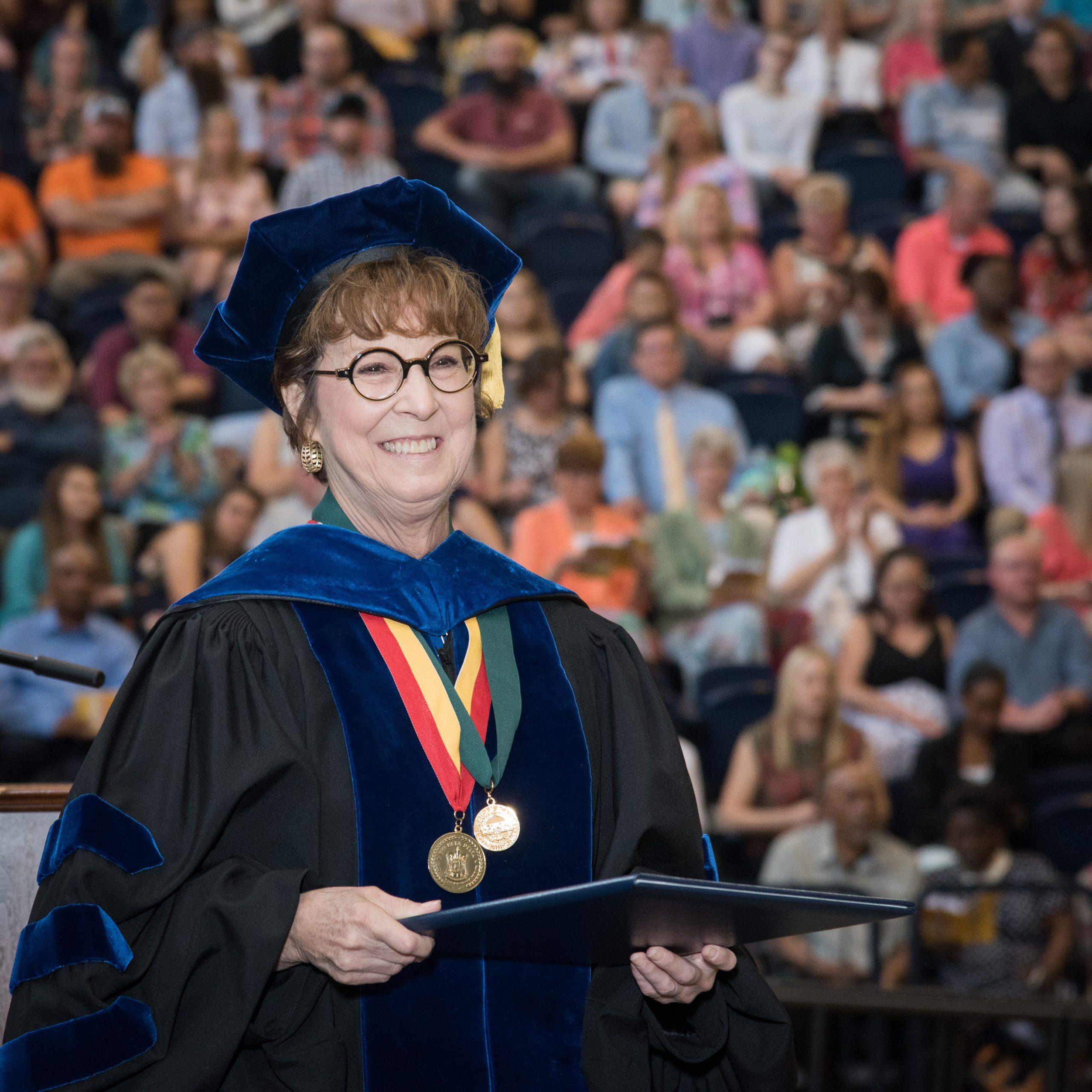 Dean Remsburg at graduation