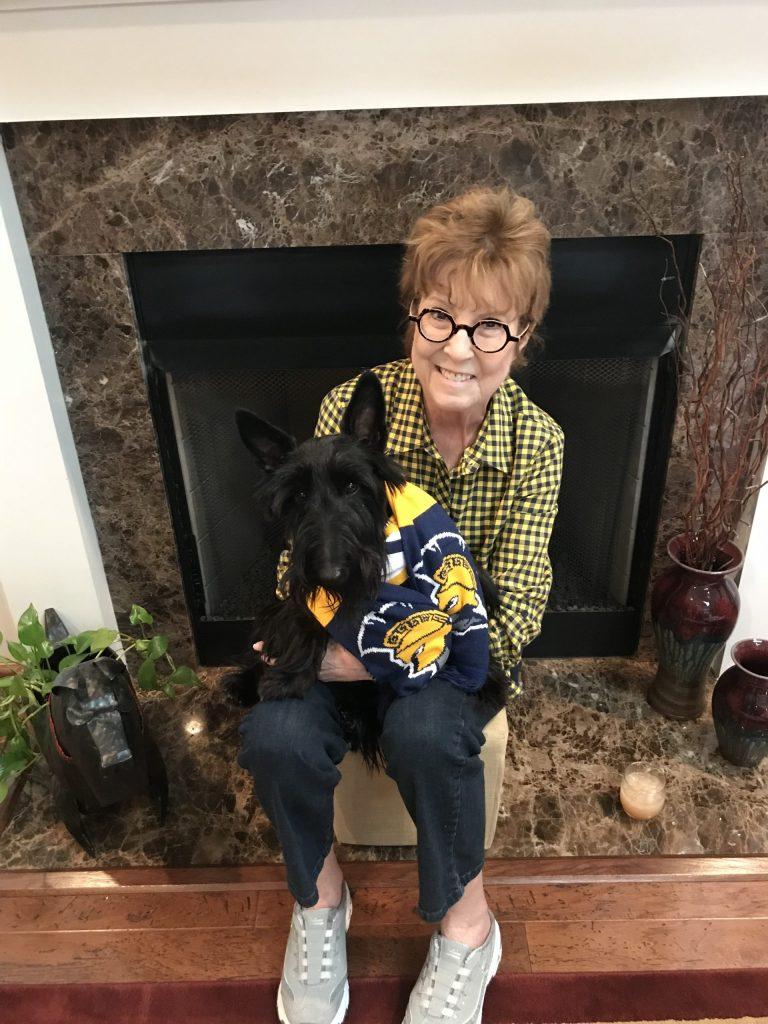 Dean Remsburg with her dog